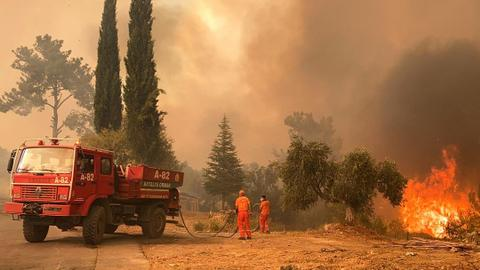 Turkey battles wildfires in south for third day, launches investigation