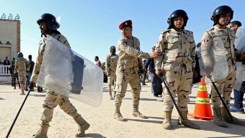 Egypt army says dozens of insurgents killed in restive Sinai
