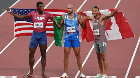 Italy's Jacobs wins first post-Bolt Olympic 100-metre gold medal