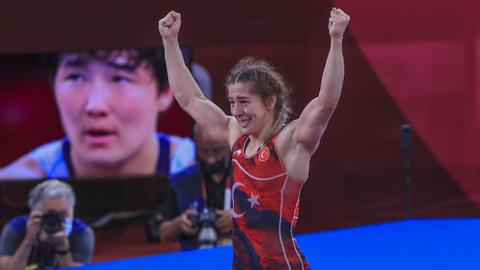 Turkey's Adar makes history with Olympic bronze in women's wrestling
