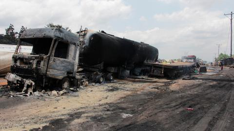 Deadly crash between bus and fuel truck leaves dozens dead in DRC