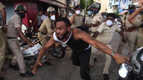 Africans protest Congolese man's custodial death in India