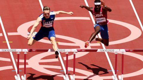 Norway's Warholm obliterates 400m hurdles world record at Olympics