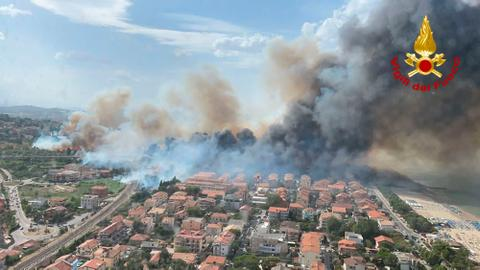 Greece fights fires amid worst heatwave as Europe hit by blazes