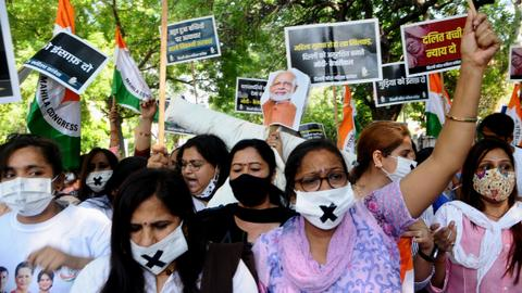 Protests as low-caste girl raped, killed and cremated in India's capital
