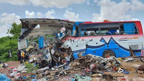 Dozens killed in bus and truck crash in Mali