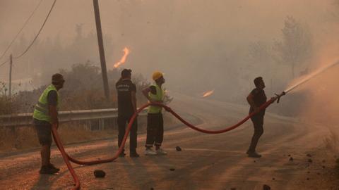 One week after first wildfires started, Turkey is still battling blazes