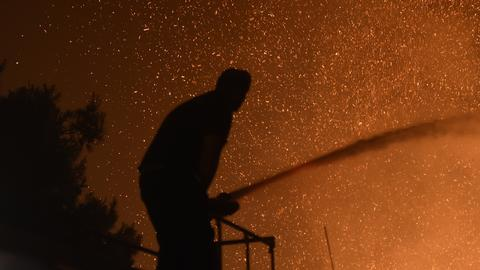 In Pictures: Forest fires swallow the Attica region of Greece