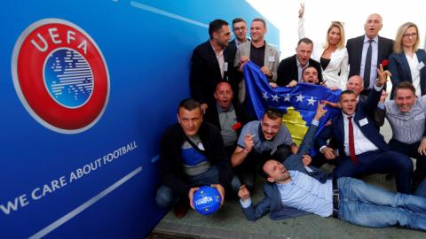Kosovo becomes a member of UEFA despite dissent from Serbia