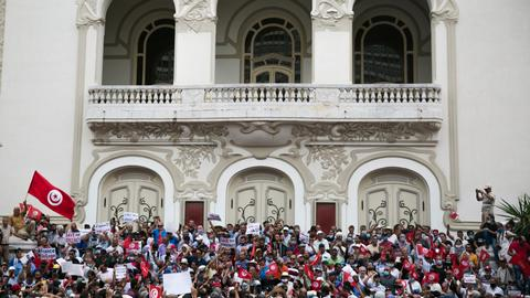 'We want legitimacy': Tunisians demand end to president's seizure of powers