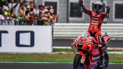 Ducati's Bagnaia holds off title-chasing Quartararo to win at San Marino