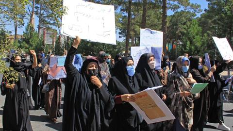 Protests after Taliban replace Ministry of Women's Affairs