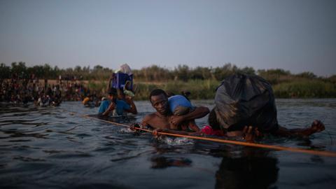 US begins mass expulsion of desperate Haitian migrants