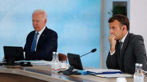 Macron, Biden hold talks to defuse submarine row