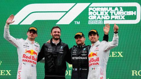 Bottas wins Turkish GP as Verstappen reclaims championship lead