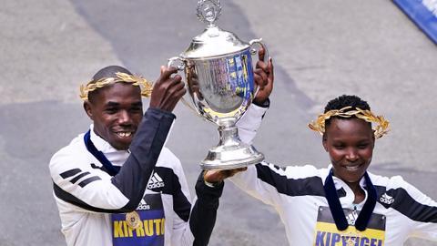Kenya's Kipruto, Kipyogei sweep in Boston Marathon return