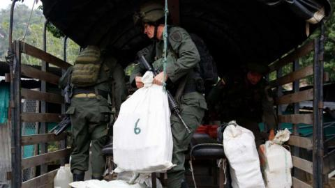 Colombian navy confiscates more than one ton of cocaine