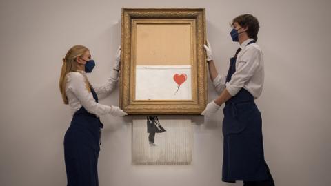 Shredded Banksy artwork fetches record $25.38M
