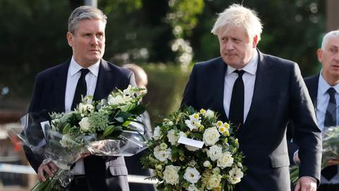 UK PM Johnson visits church where MP stabbed to death