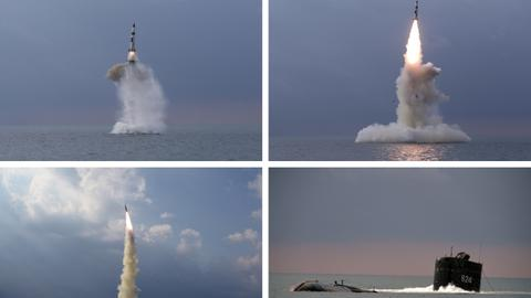 North Korea tests new submarine-launched missile