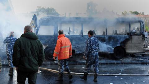Several killed in Damascus bus bombing
