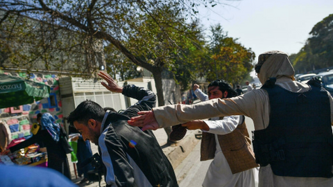 Taliban officials beat journalists covering women's protest in Kabul