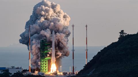 South Korea launches first domestically made space rocket
