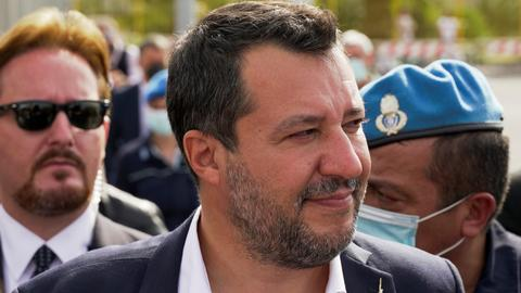 Italy's Salvini stands trial for blocked migrant ship