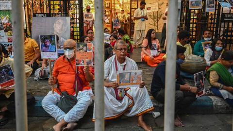 Tens of thousands march in Bangladesh over attacks on Hindus