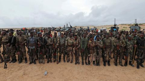 Clashes in central Somalia leave at least a dozen people dead