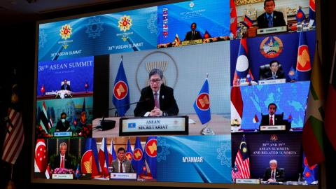 ASEAN summit gets under way without Myanmar's junta chief