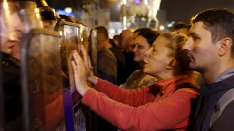 Nightly protests continue in Macedonian capital