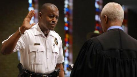 First black police chief takes helm in Ferguson