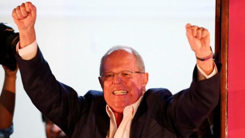 Peru's Kuczynski leads in tight presidential election