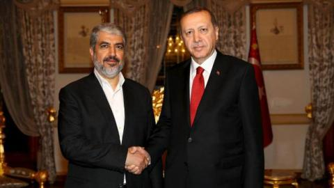 Erdogan meets Hamas leader as settlement talks loom large