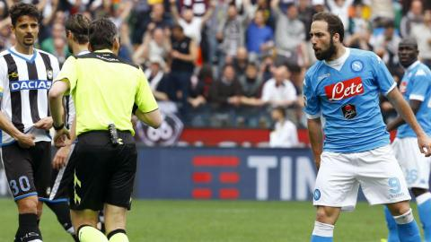 Napoli striker Higuain suspended for four matches