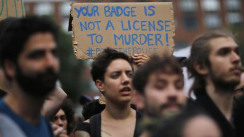 Protests across the US against police violence