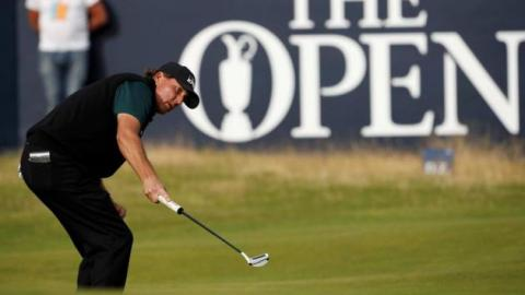 British Open: Mickelson gets share of major record