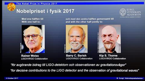Gravitational wave pioneers win 2017 Nobel Physics Prize