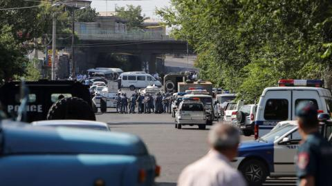 Armed men take hostages in Armenian capital
