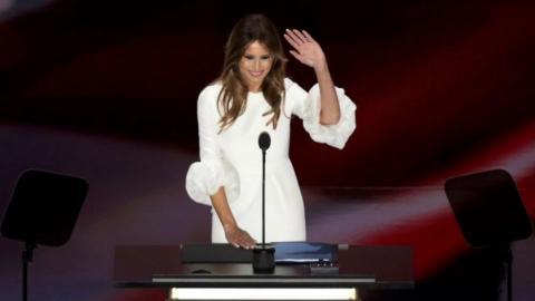 Trump's wife accused of plagiarising Michelle Obama's speech