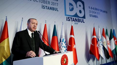 Erdogan calls for D8's expansion & trade in local currencies among members
