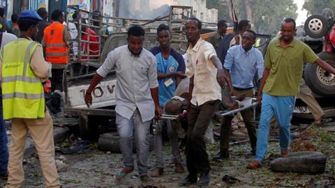 Bomb attack on hotel in Somali capital kills at least 25