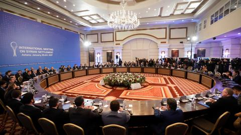 Seventh round of Syria peace talks begins in Astana