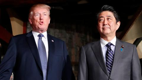 US trade with Japan not fair and open, Trump says