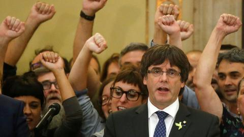 Puigdemont says non-secessionist solution to Catalan crisis possible