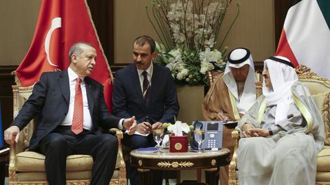 Turkish president meets Kuwaiti Emir amid Qatar row