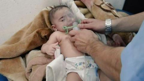 Syrian town attacked with toxic gas