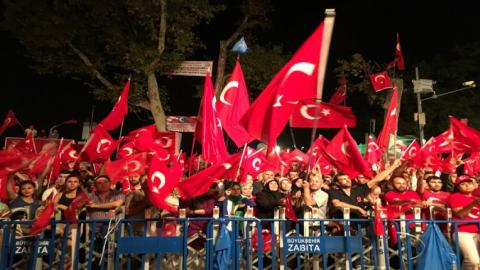 Role of women in resistance against coup attempt