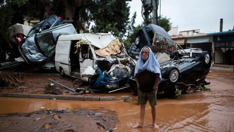 Greece declares state of national mourning after deadly flash floods